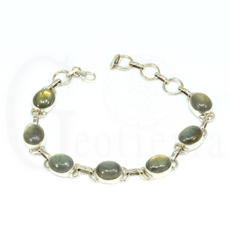 pulsera labradorita plata