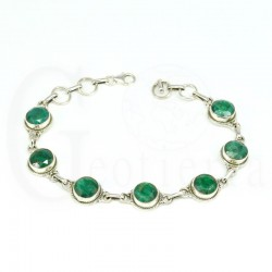 pulsera esmeralda plata