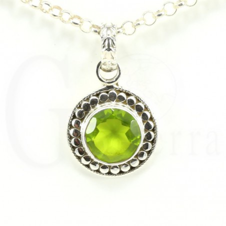 colgante olivino plata