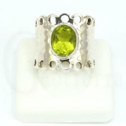 anillo peridoto plata
