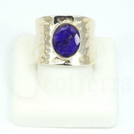 anillo zafiro plata