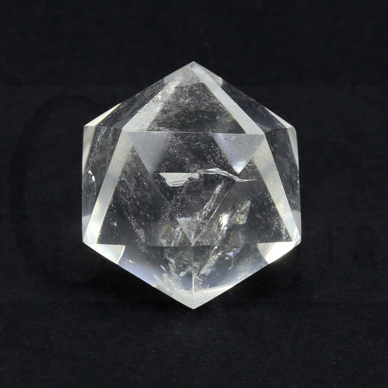 icosaedro cuarzo natural