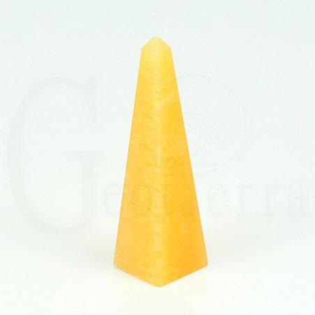 obelisco calcita naranja