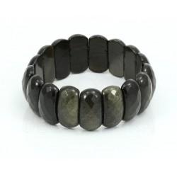 pulsera de obsidiana dorada