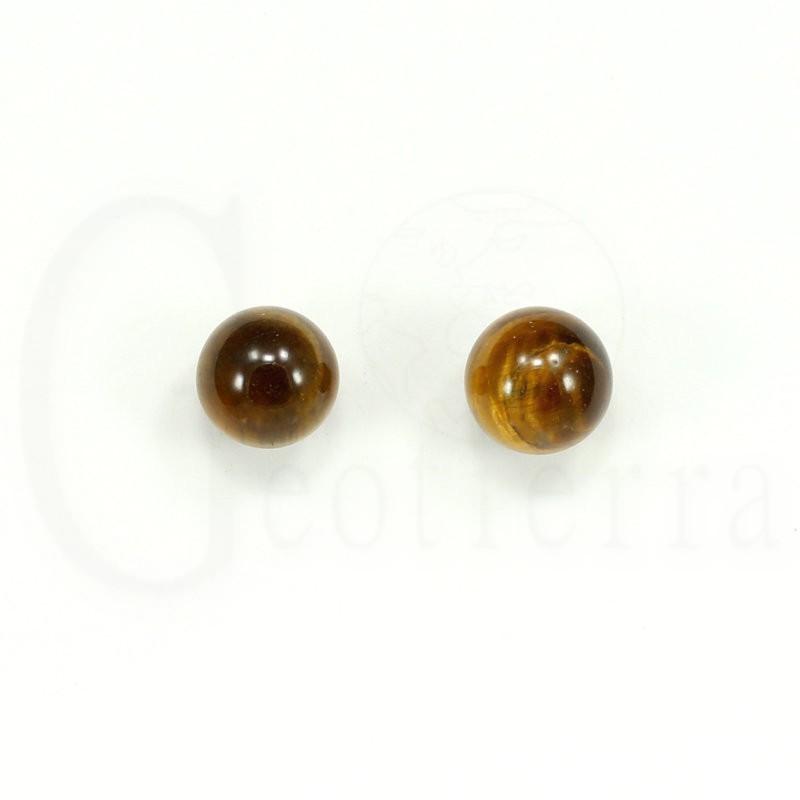 pendientes ojo tigre 10mm