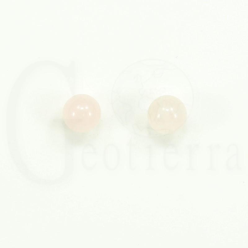 pendientes cuarzo rosa 8mm