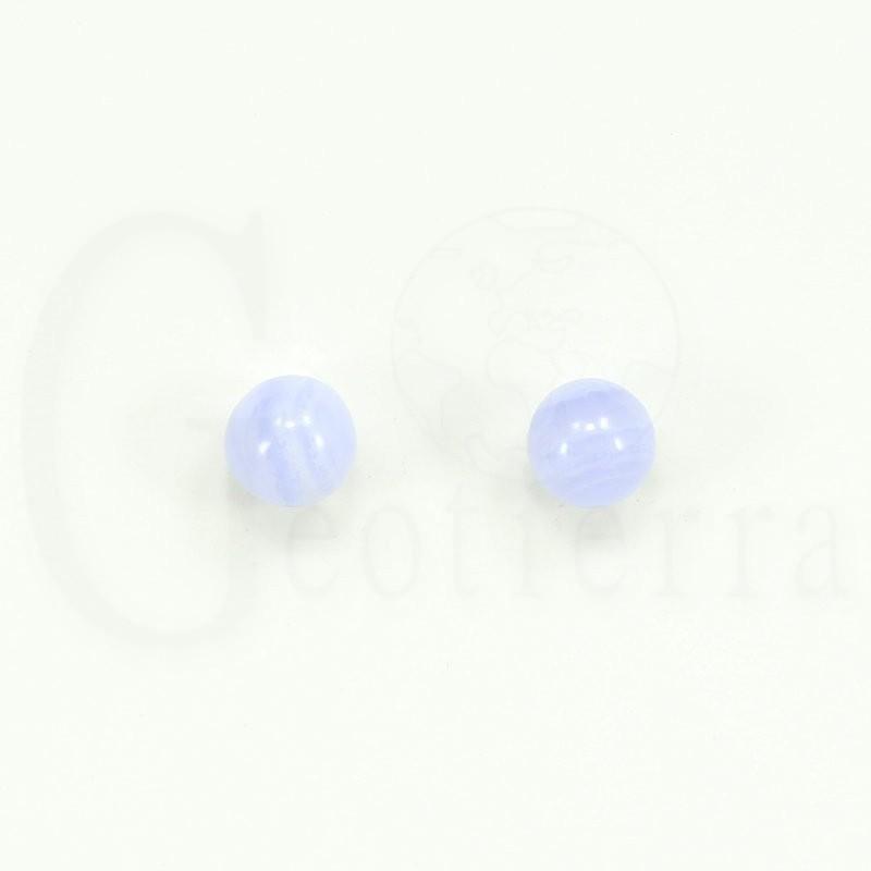 pendientes calcedonia 8mm
