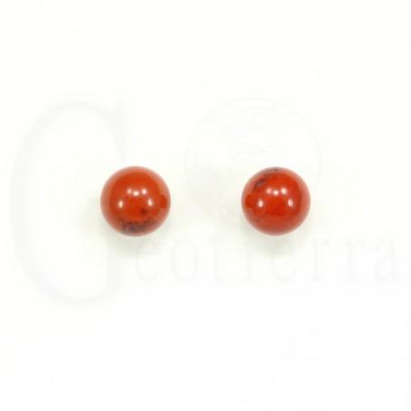 pendientes jaspe rojo 10mm