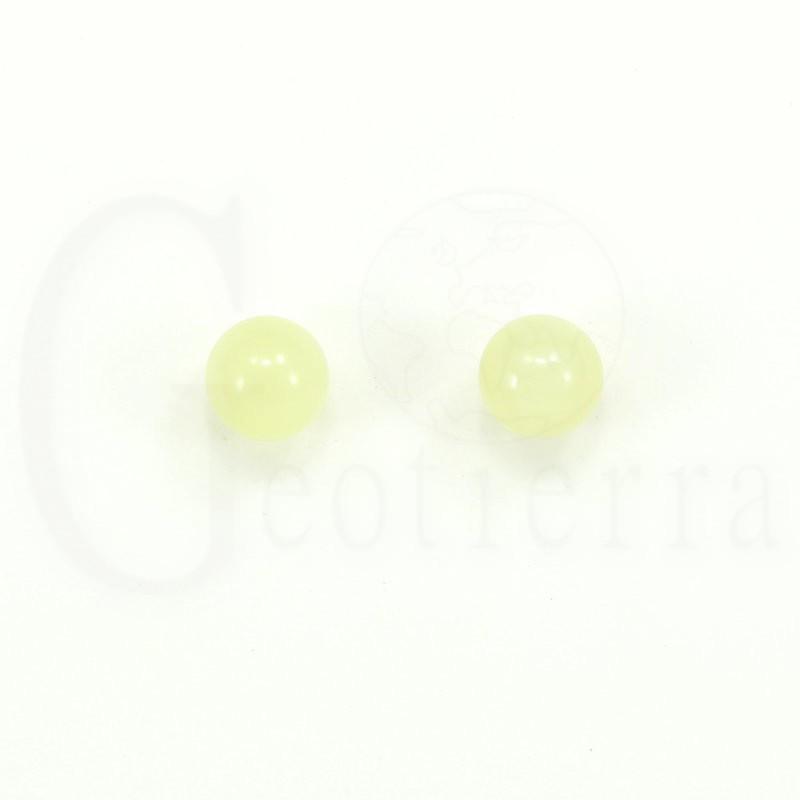 pendientes jade verde 8mm
