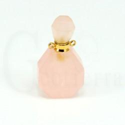 colgante perfumero cuarzo rosa