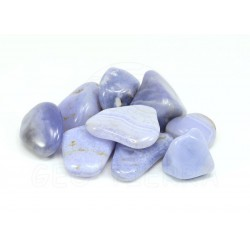 Mineral rodado calcedonia azul