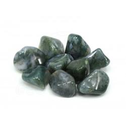 Mineral rodado ágata musgosa