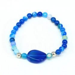 pulsera agata azul