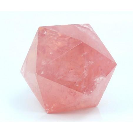 icosaedro cuarzo rosa