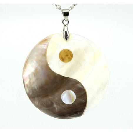 colgante nacar madreperla yin-yang