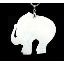 colgante elefante nácar