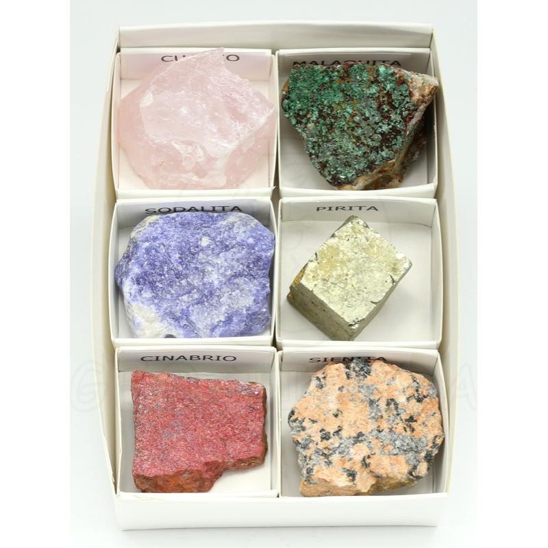 coleccion seis minerales grandes