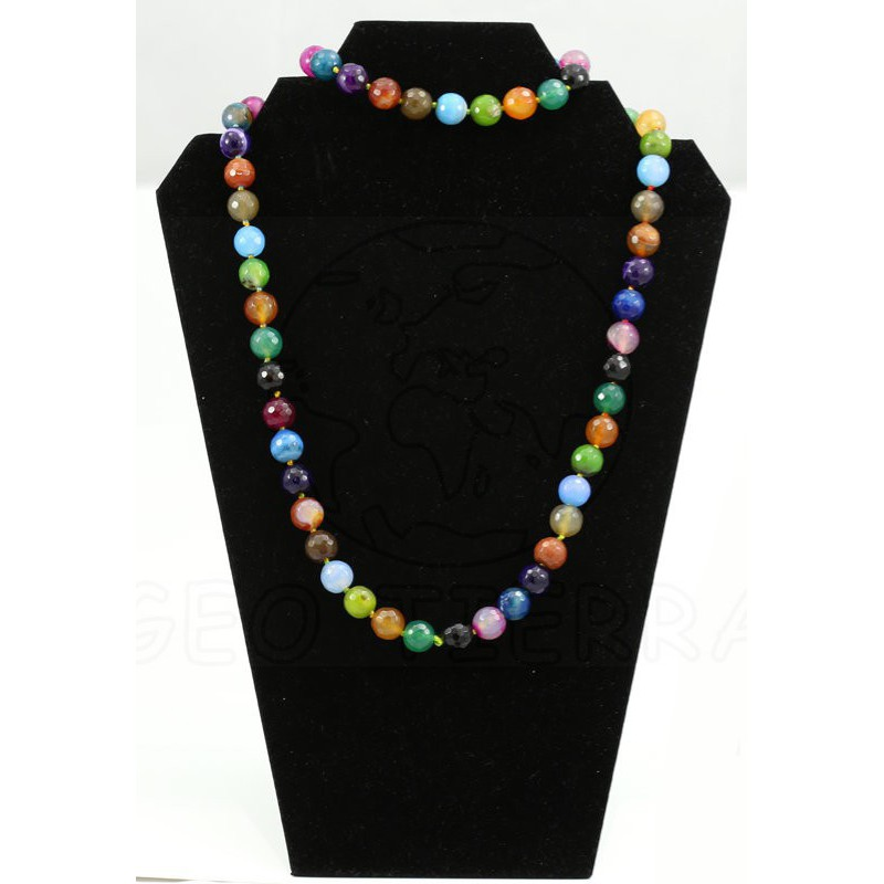 collar agata multicolor largo 2