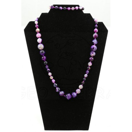 collar agata violeta largo