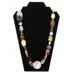 collar piedra variada