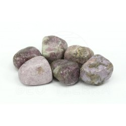 Mineral rodado lepidolita
